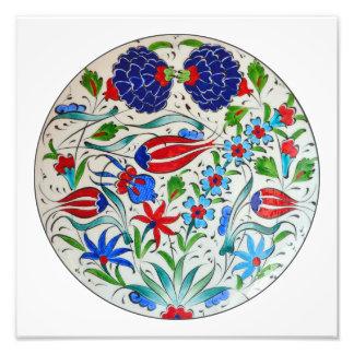 Türkisches Blumenmuster Fotodruck