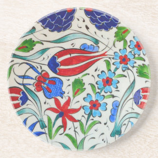 Türkisches Blumenmuster Getränkeuntersetzer