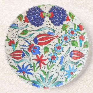 Türkisches Blumenmuster Sandstein Untersetzer