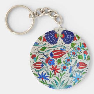 Türkisches Blumenmuster Schlüsselanhänger