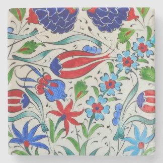 Türkisches Blumenmuster Steinuntersetzer