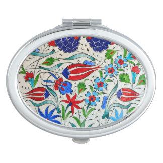 Türkisches Blumenmuster Taschenspiegel