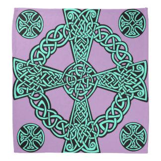 Türkislavendelknoten des keltischen Kreuzes Kopftuch