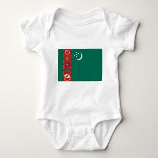 Turkmenistan-Flagge Baby Strampler