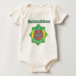 Turkmenistan-Wappen Entwürfe Baby Strampler