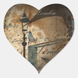 Turm-Brücke Laternenpfahl Vereinigten Königreichs Herz-Aufkleber