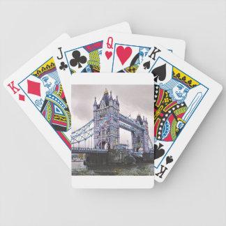 Turm-Brücke London Bicycle Spielkarten