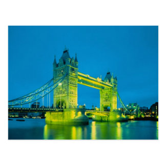 Turm-Brücke, London, England 3 Postkarte