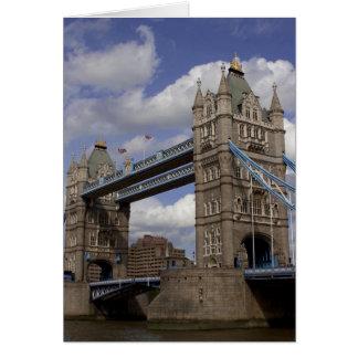 Turm-Brücke London, England Karte
