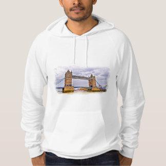 Turm-Brücke London, England Kunstentwurf Hoodie
