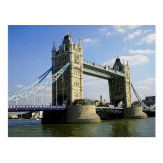 Turm-Brücke London England Postkarte