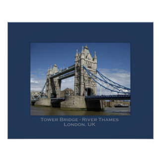 Turm-Brücke, London, Großbritannien Poster