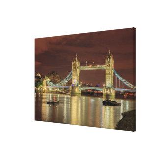 Turm-Brücke nachts, London Leinwanddruck