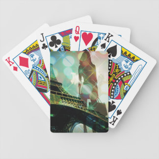 Turm-Glitzern Paris Eiffel shopaholic Fashionista Bicycle Spielkarten