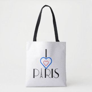 Turm ❤️ I Paris Eiffel/Tricolore Tasche