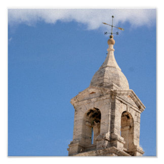 Turm im Wolkendruck Poster