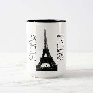 Turm-Kaffee-Tasse Paris Frankreich Eiffel Zweifarbige Tasse
