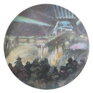 Turm-Malerei Post-Impressionismus-Paris Eiffel Teller