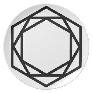 Turm (+)/Melamin-Platte Melaminteller