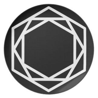 Turm-(-)/Melamin-Platte Teller