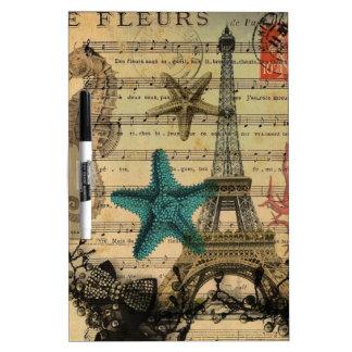 Turm Musiknoten-Seepferd Starfishparis Eiffel Trockenlöschtafel