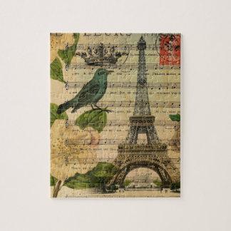 Turm Musiknotenkamelienfranzoseparis Eiffel Puzzle