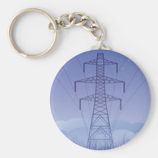 Turm-Power-Linie Keychain Schlüsselanhänger