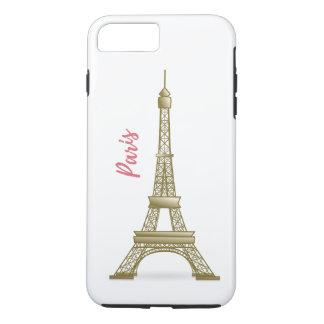 Turm-Rosa und Goldparis Eiffle iPhone Fall iPhone 8 Plus/7 Plus Hülle