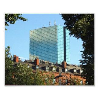 Turm-Rückseiten-Bucht-Boston-Skyline Johns Hancock Fotodruck