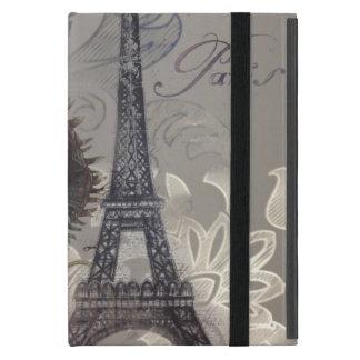 Turm Shabby Chic-Blumen-Wirbelsparis Eiffel iPad Mini Etuis