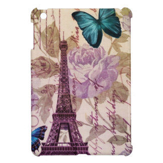Turm Shabby Chicblumenschmetterling Paris Eiffel iPad Mini Hülle