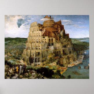 Turm von Babel Druck Poster