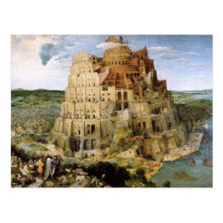 Turm von Babel - Peter Bruegel Postkarte