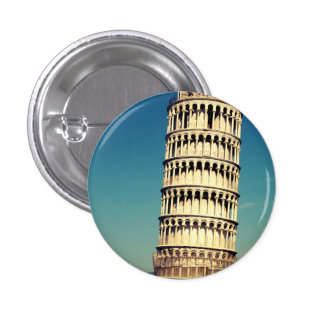 Turm von Pisa Runder Button 3,2 Cm