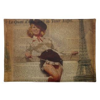 Turm-Westernlandcowgirl Paris Eiffel Tischset