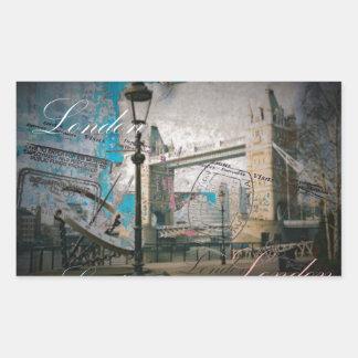 Turmbrücke Königreich-Laternenpfahlthemse London Rechteckiger Aufkleber
