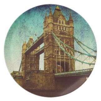 Turmbrücke Vereinigten Königreichs die Themse Melaminteller