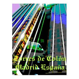 Türme von Kolumbus in Madrid Spanien Postkarte