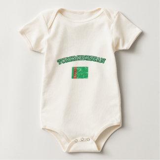 Turmenistan Fußballentwurf Baby Strampler