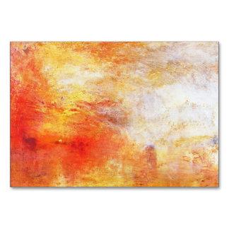 Turner Sun der über eine See-abstrakte Landschaft