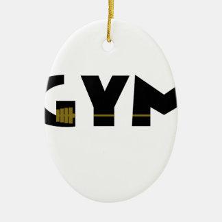 Turnhalle und Fitness Keramik Ornament