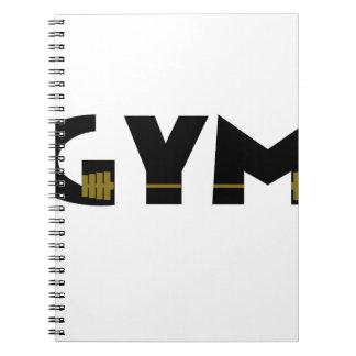 Turnhalle und Fitness Spiral Notizblock