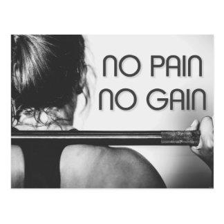 Turnhallen-Bodybuildings-Fitness motivierend Postkarte