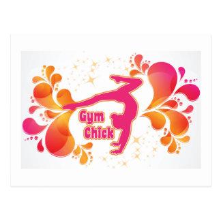 Turnhallen-Küken-Gymnastik-Geschenk Postkarte