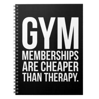 Turnhallen-Mitgliedschaft ist billiger als Spiral Notizblock