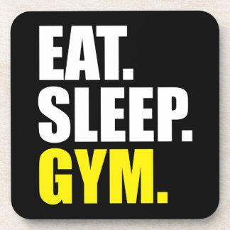 Turnhallen-Motivation - essen Sie, schlafen Sie, Untersetzer
