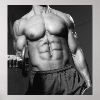 Turnhallen-Wand u. Fitnessstudio-Plakat #3 Poster