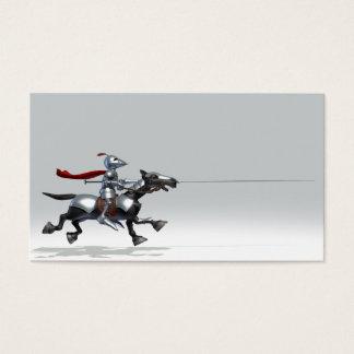 Turnierender Ritter Visitenkarte