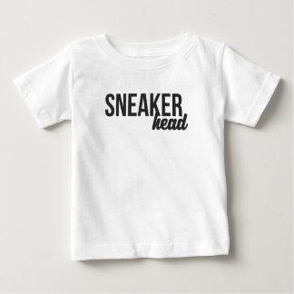 Turnschuh-Kopf-Druck Baby T-shirt