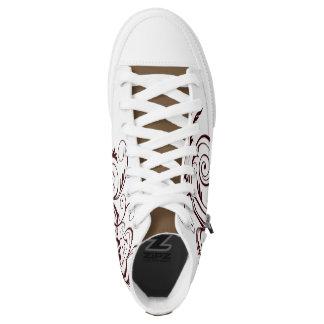 Turnschuhe mit Blumendrucken Hoch-geschnittene Sneaker